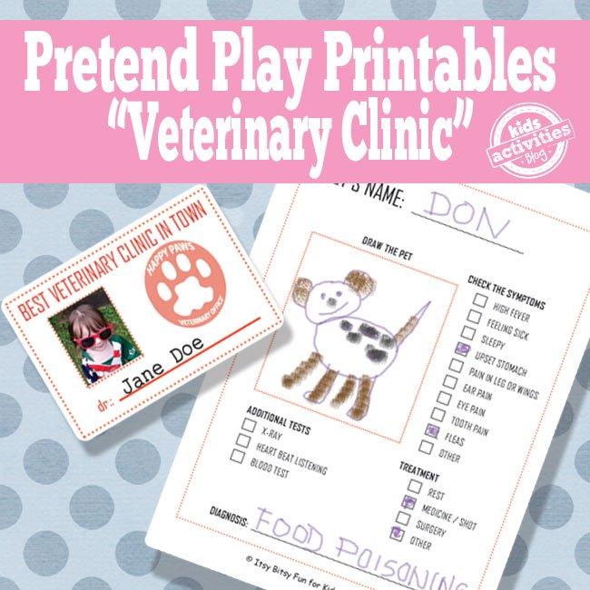 Vet Pretend Play Printable Activities