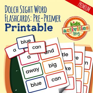 Dolch Sight Word Flashcards – Pre-Primer