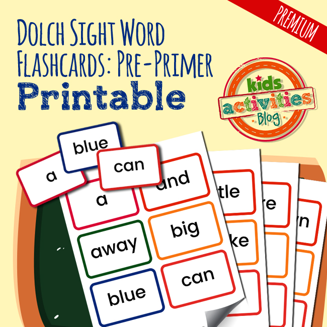 Dolch Sight Word Pre-Primer Flashcards
