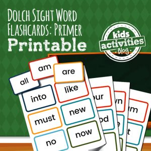 Dolch Sight Word Flashcards: Primer