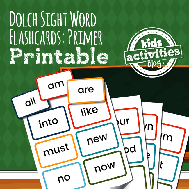 Dolch Sight Word Flashcards - Primer List