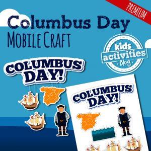 Printable Columbus Day Mobile Craft for Kids
