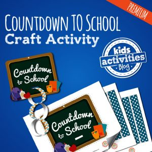 Countdown to School Craft Activity