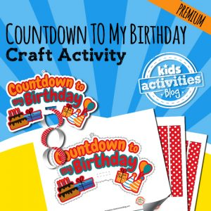 Birthday Countdown Craft Activity