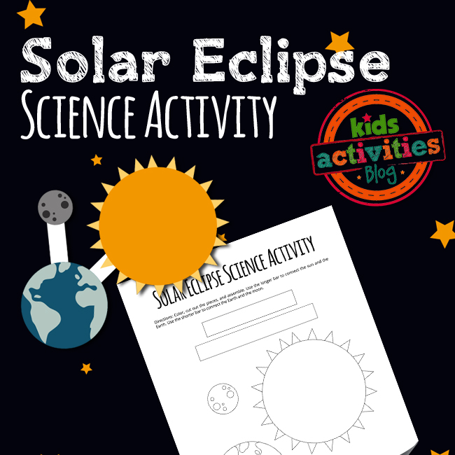 Solar Eclipse Science Activity for Kids