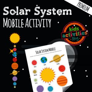 Solar System Mobile Science Printable Craft for Kids