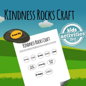 Kindness Rocks Craft Printable