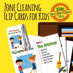Chore Zone Cleaning Flip Cards