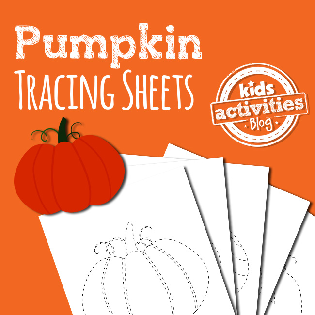 Preschool Pumpkin Tracing Pages
