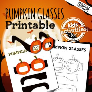 Printable Pumpkin Glasses Craft for Kids