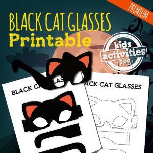 Printable Halloween Costume Black Cat Glasses Craft