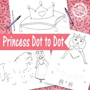 Princess-Dot-to-Dot-Sheets