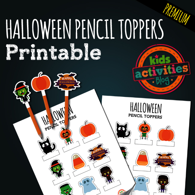 Printable Halloween Pencil Toppers for Kids