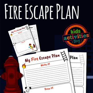 PRINTABLE FIRE ESCAPE PLAN FOR KIDS