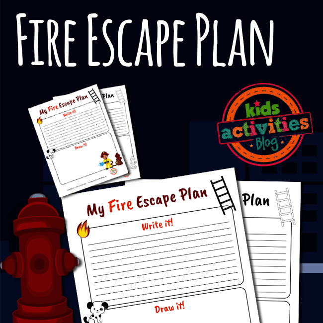 Fire Escape Plan Printable Worksheet For Fire Prevention Week