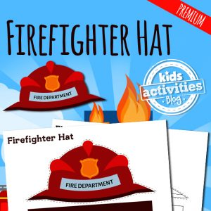Firefighter Hat Printable Craft for Kids