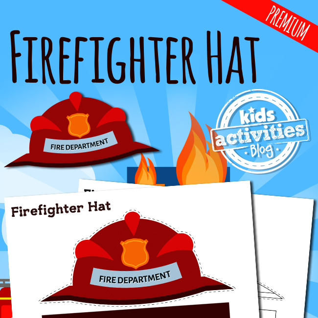 Firefighter Hat Printable Craft For Kids The Printables Library