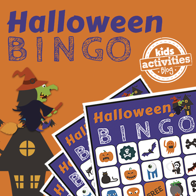 Halloween BINGO Printable Game for Kids