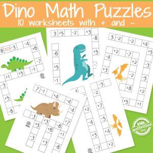 Dino Math Puzzles