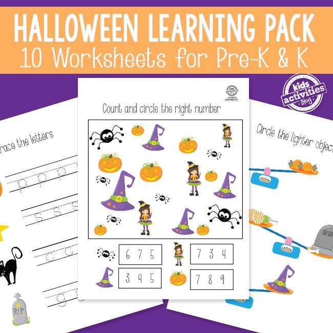 Halloween Activities Printables Pack