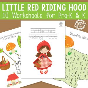 Little Red Riding Hood Worksheets for PreK and Kindergarten