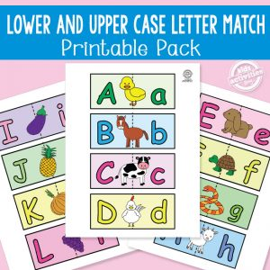 Upper and Lower Case Letter Match Cards