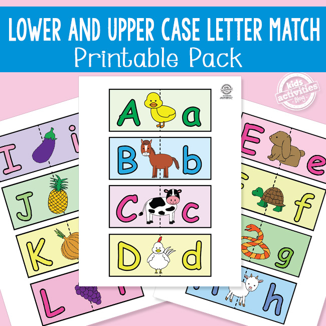 Upper and Lower Case Letter Match Game Cards