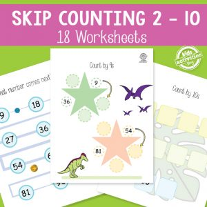 Skip Counting Worksheets: 1-10