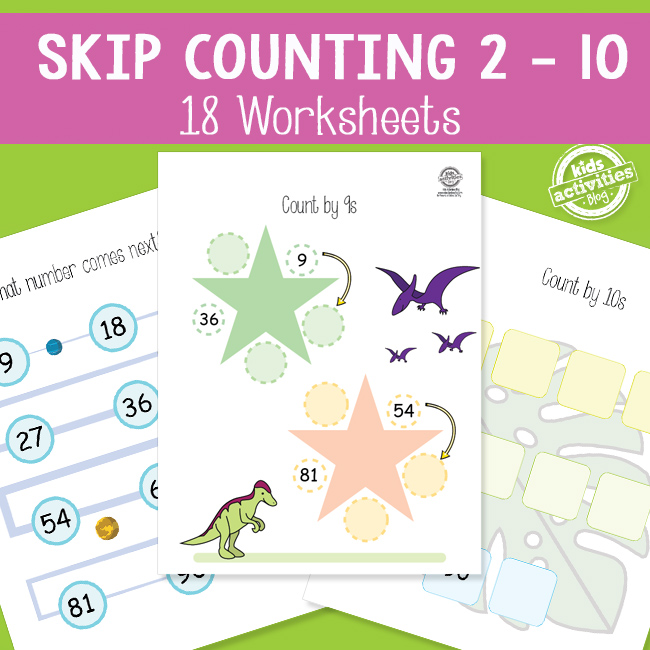 Skip Counting Worksheets 1 10 The Printables Library