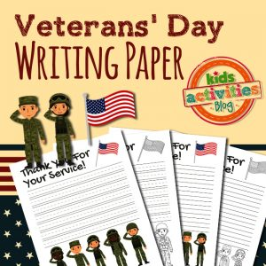 Veterans' Day Writing Paper Printable