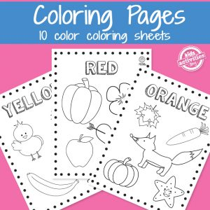 Printable Preschool Color Coloring Pages for Kids