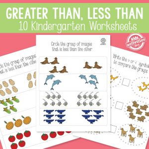 Greater Than Less Than Kindergarten Math Activity Packet