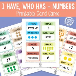I Have, Who Has – Numbers 1-20 Math Game