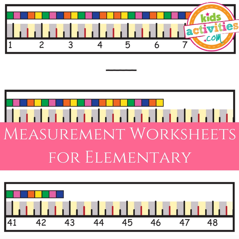 Measurement Worksheets for Elementary