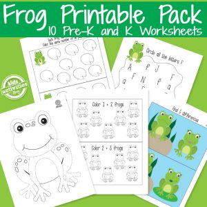 Frog Preschool Learning Activities