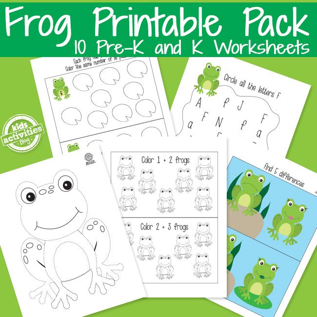 Frog Preschool Learning Activities