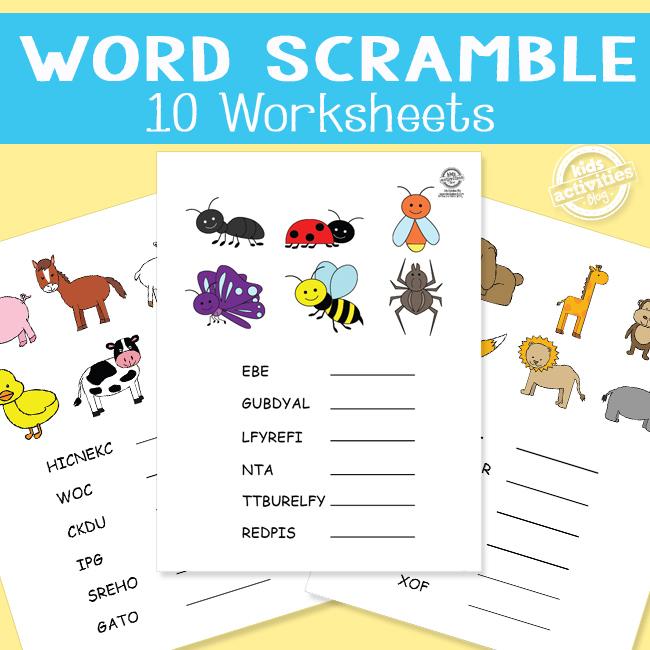 Printable Word Scrambles