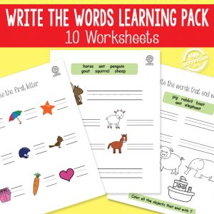 Write the Words Phonics and Spelling Worksheets
