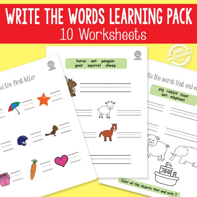 Write The Words Phonics And Spelling Worksheets The Printables Library