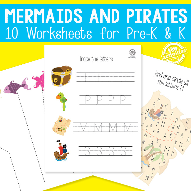 Mermaids and Pirates Learning Activities Packet of Fun!