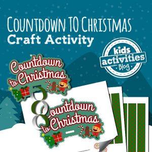 Printable Countdown to Christmas Craft Activity for Kids