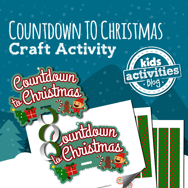 Printable Countdown to Christmas Craft Activity for Kids