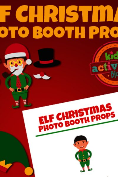 Elf on the Shelf Christmas Photo Booth Props