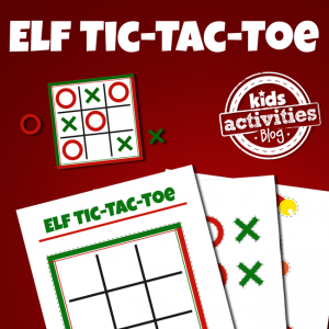 Elf on the Shelf Tic-Tac-Toe Board
