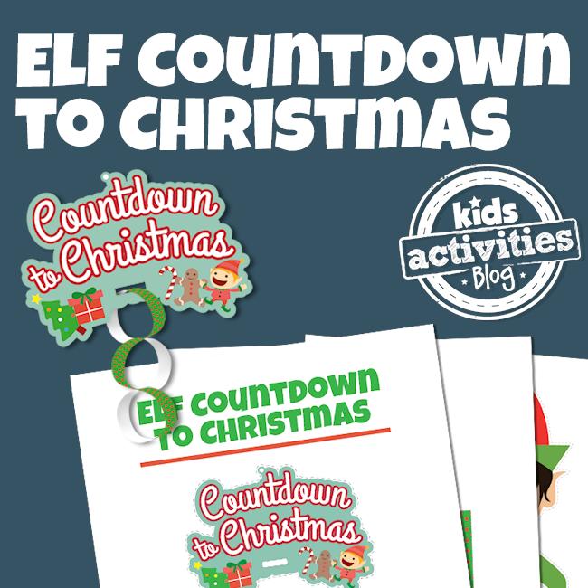 Printable Elf on the Shelf Christmas Countdown Activity