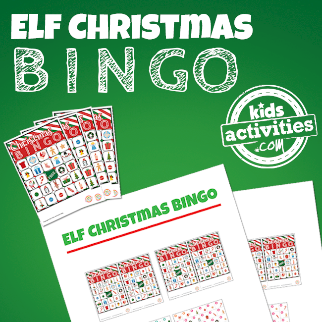 Printable Elf on the Shelf Christmas BINGO