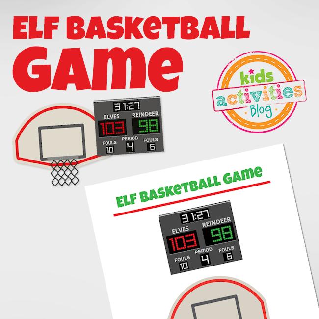 Printable Elf on the Shelf Basketball