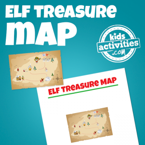 Elf on the Shelf Treasure Hunt Map