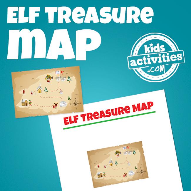Elf on the Shelf Treasure Hunt Map