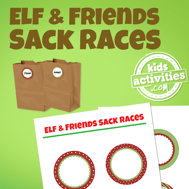 Elf on the Shelf Sack Races